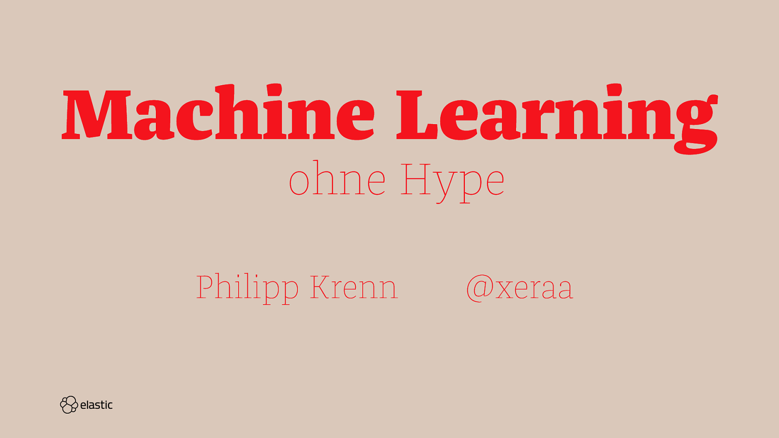 Machine Learning ohne Hype