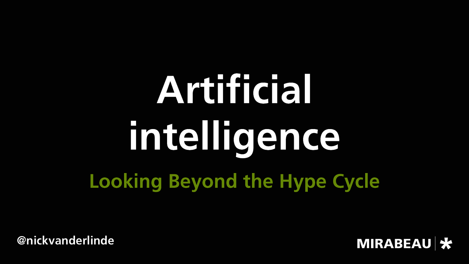 Artificial Intelligence – Looking Beyond the Hype Cycle
