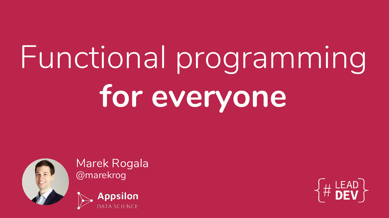 Functional programming for everyone