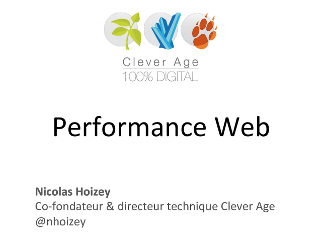 Slides from the talk « Web UX - Performance Web »