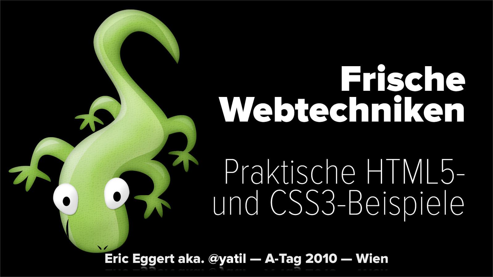 Frische Webtechniken: Praktische HTML5- und CSS3-Beispiele