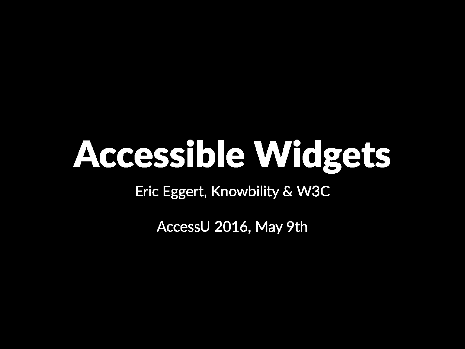 Accessible Widgets 1/4 (Class)