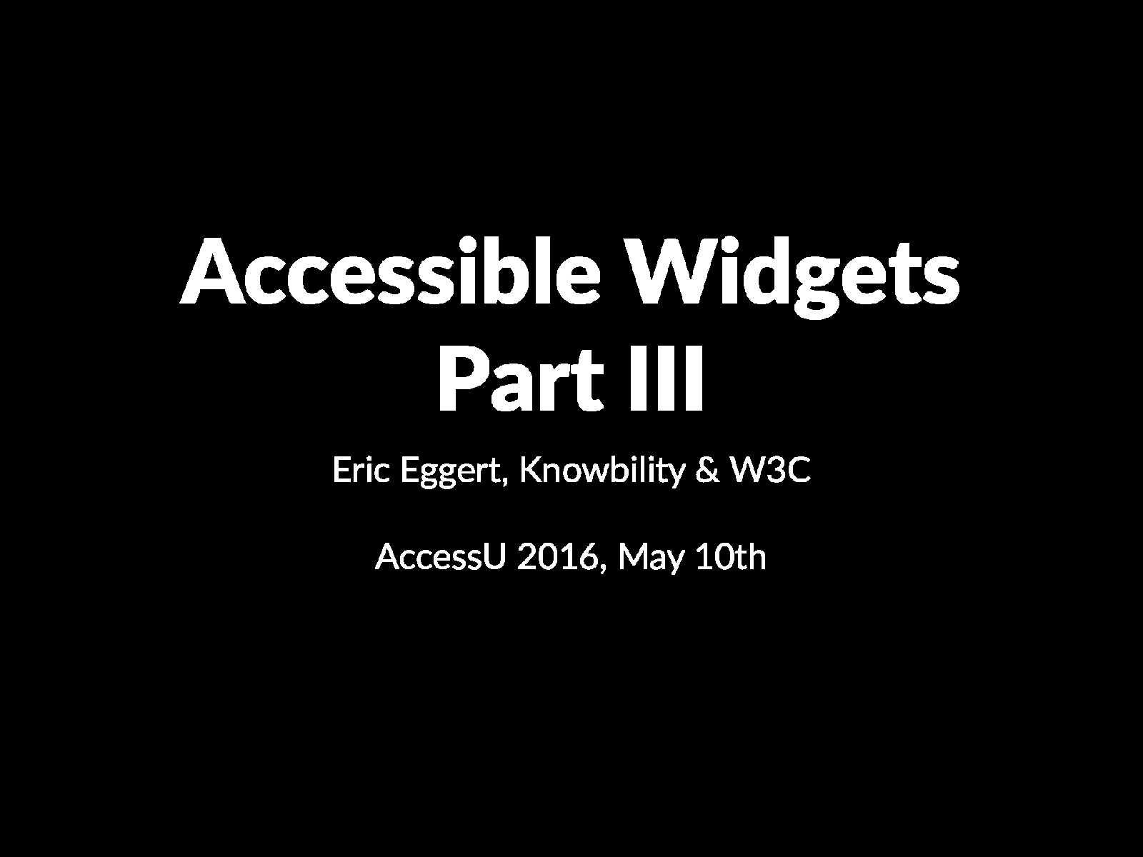 Accessible Widgets 3/4 (Class)