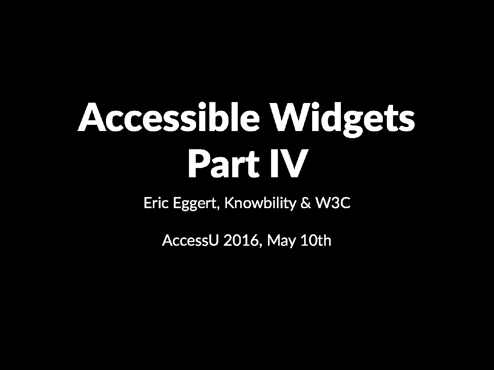 Accessible Widgets 4/4 (Class)