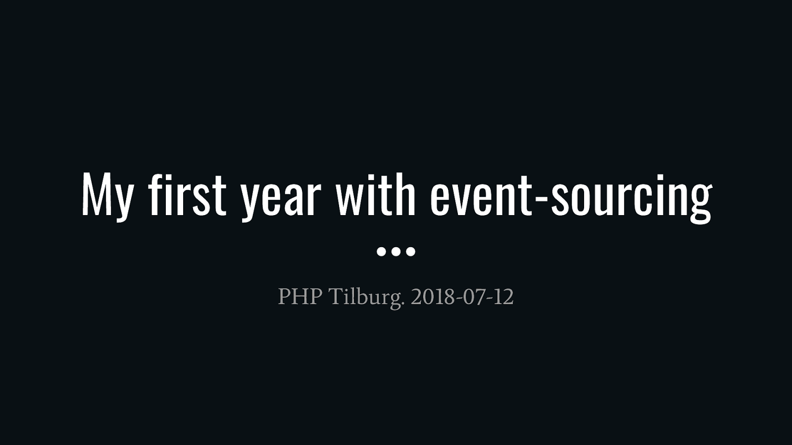 My first year with Event-sourcing