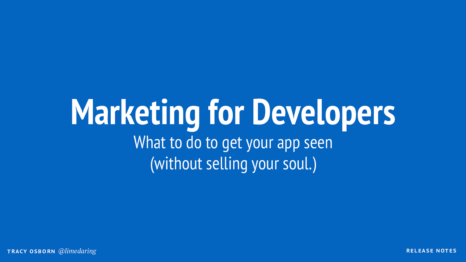 Marketing for App Developers