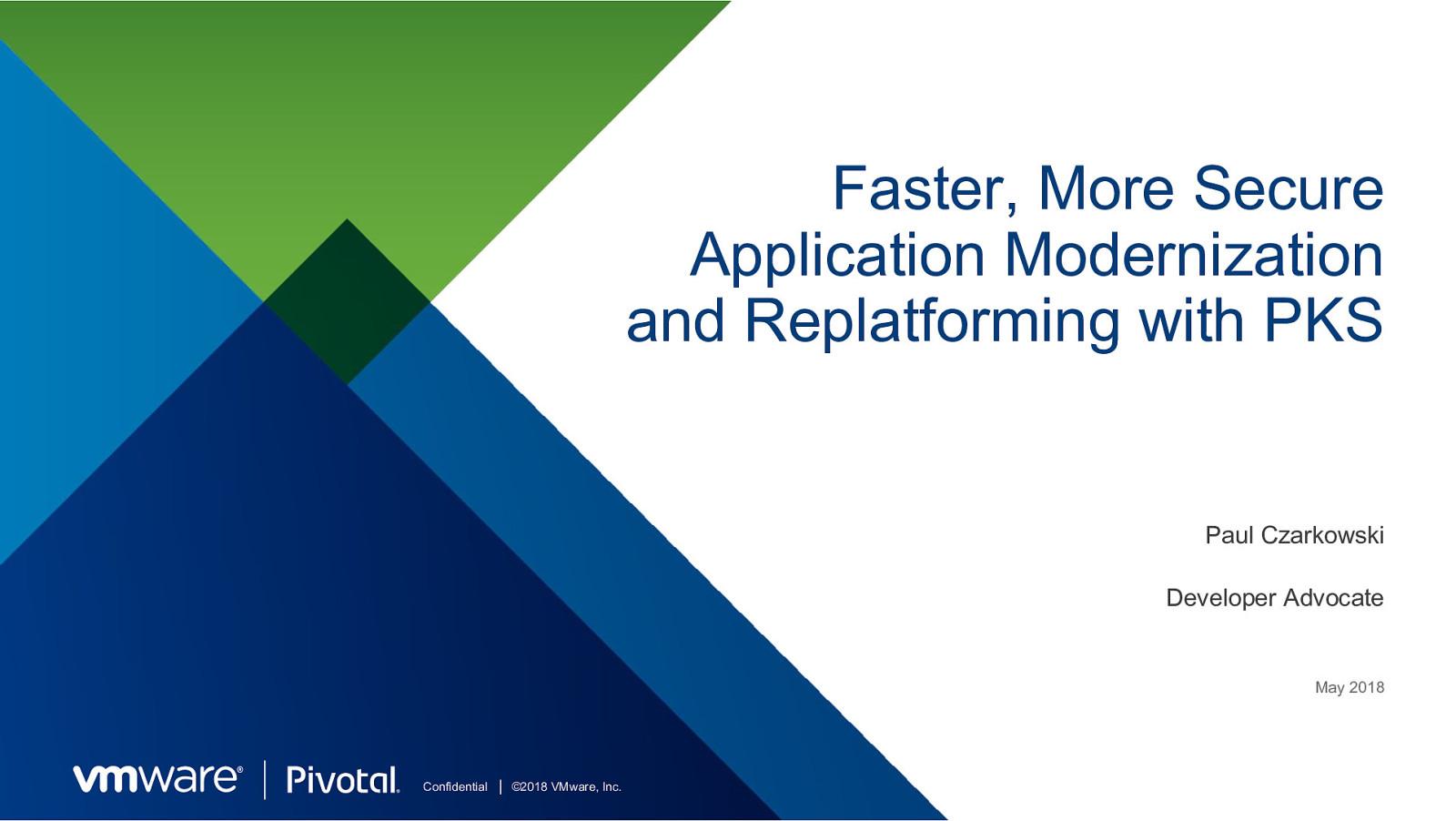 Application Modernization with PKS / Kubernetes