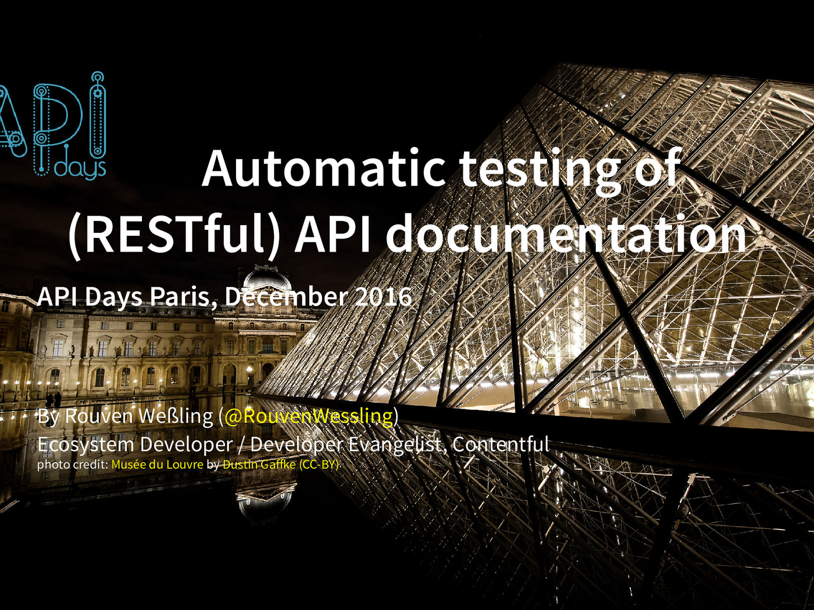 Automatic Testing of (RESTful) API Documentation