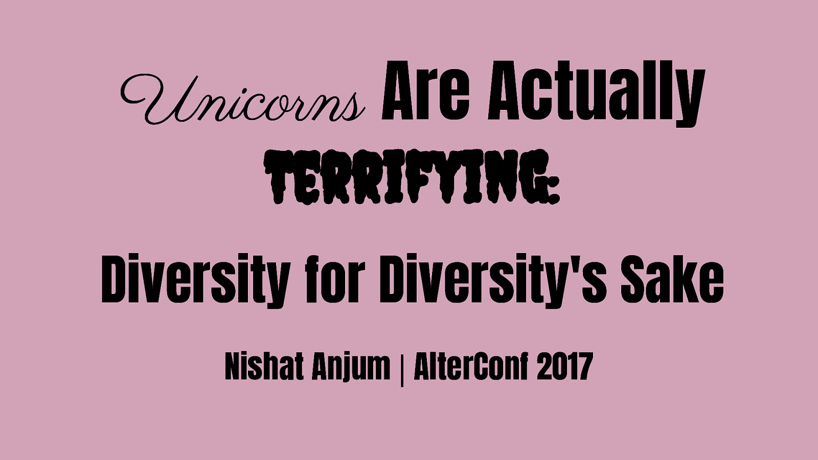 Unicorns Are Actually Terrifying: Diversity for Diversity's Sake
