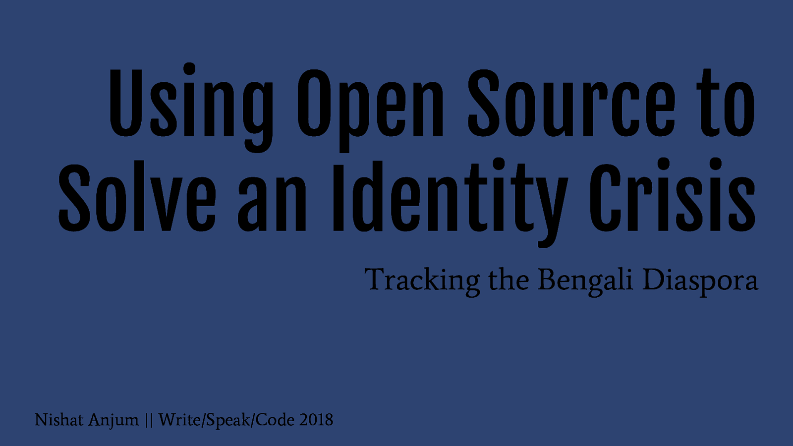 Using Open Source to Solve an Identity Crisis