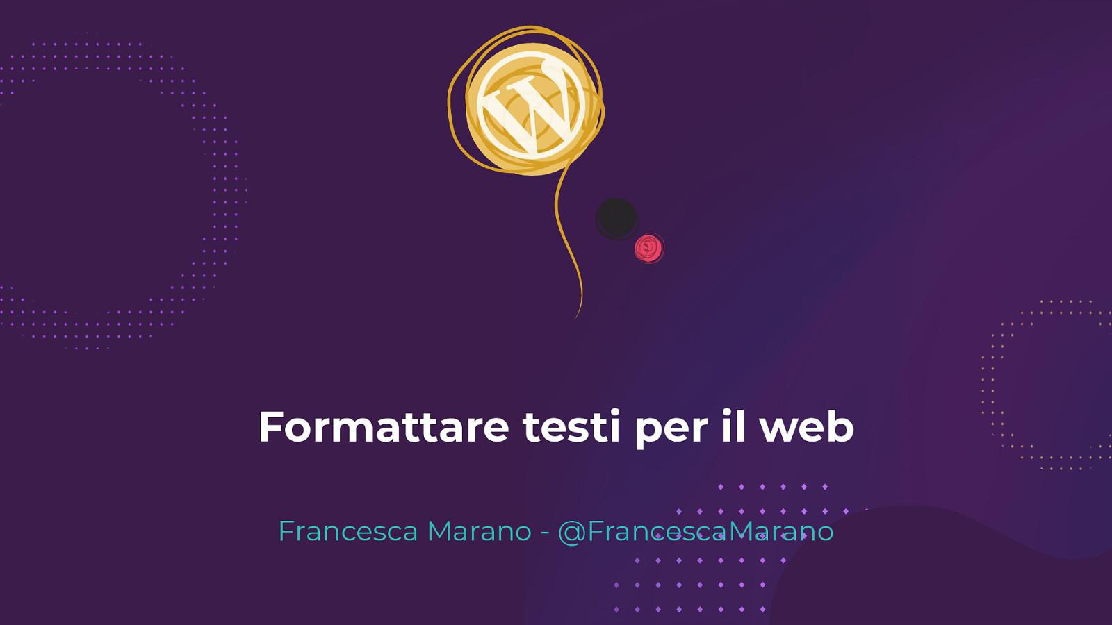 Formattare testi per il web