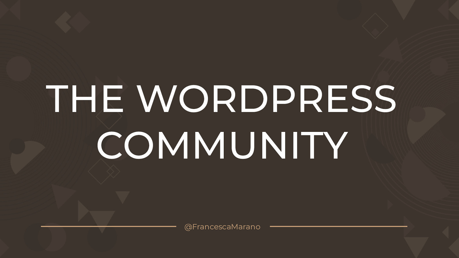The WordPress Community