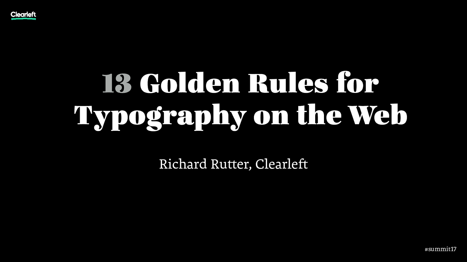 13 Golden Rules of Typography on the Web