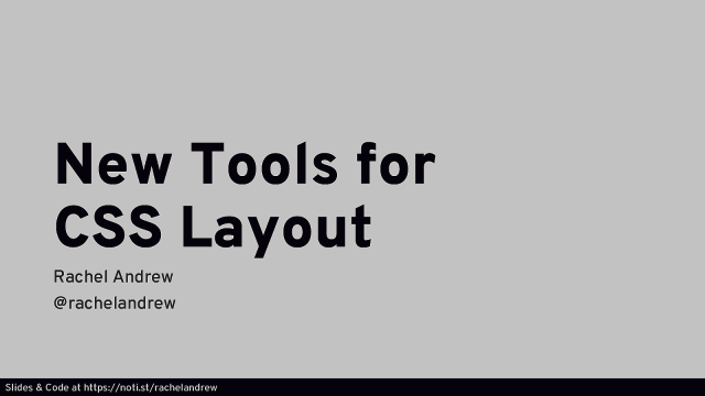 New Tools for CSS Layout