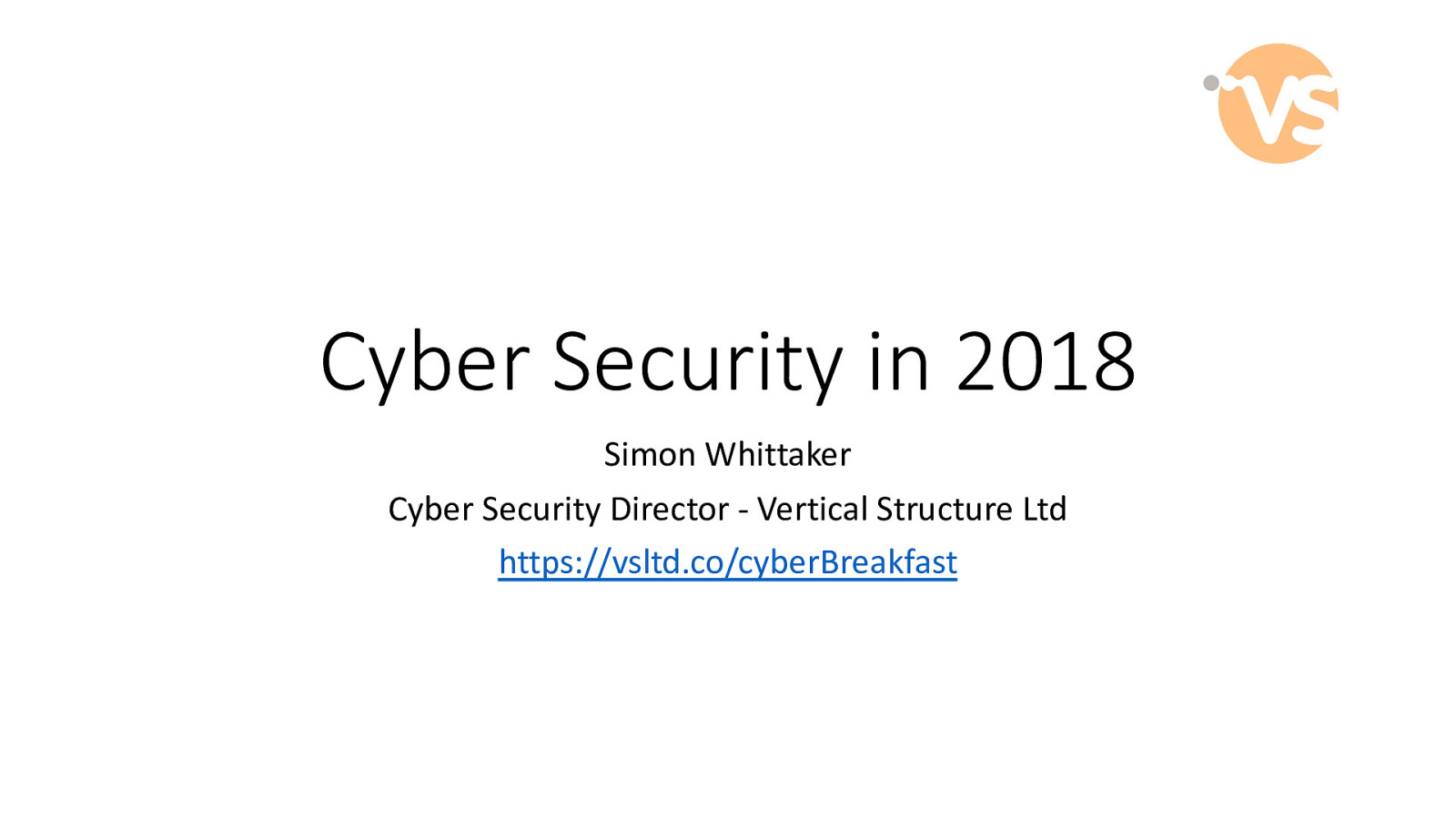 Leading the way for local businesses – cyber security breakfast by Simon Whittaker