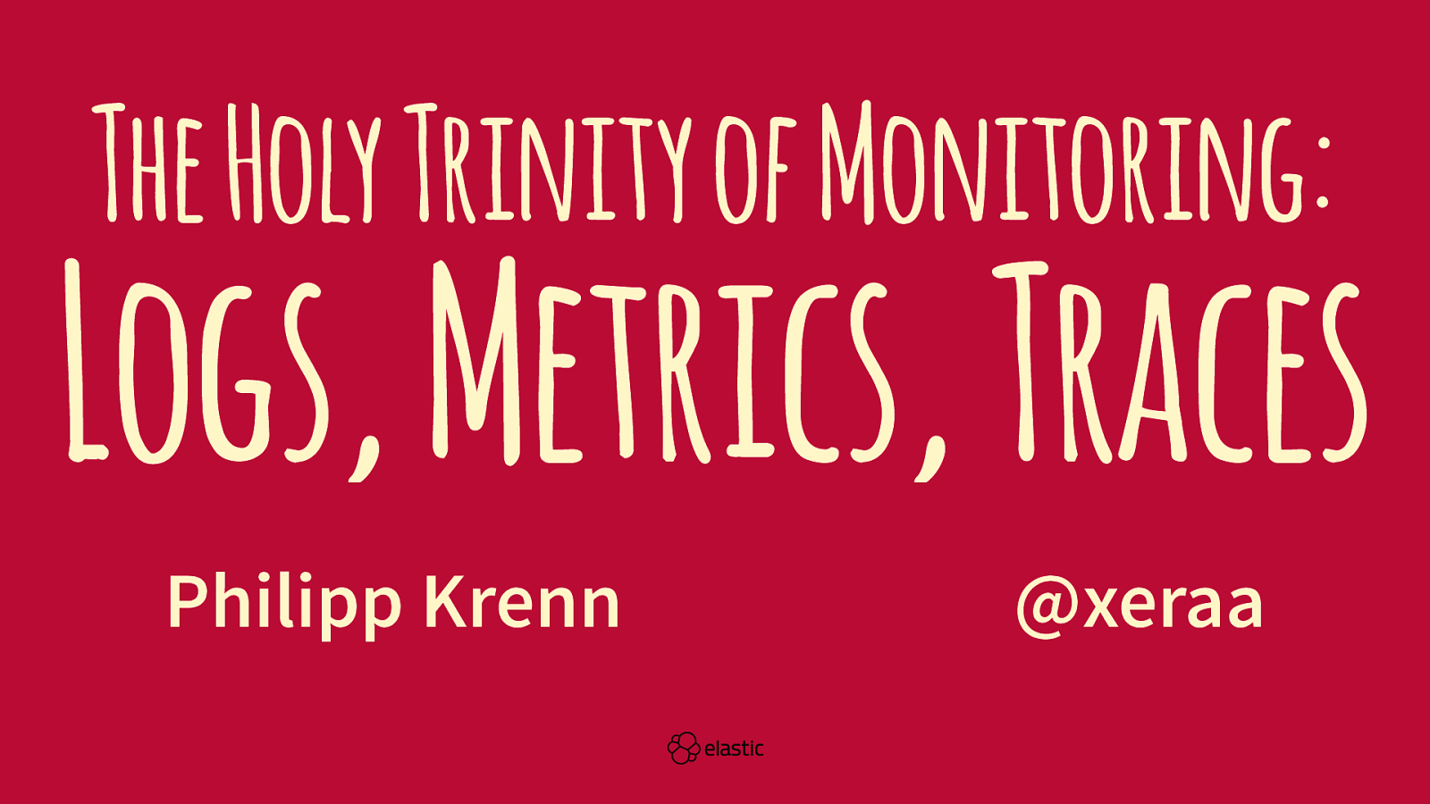 The Holy Trinity of Monitoring: Logs, Metrics, and Traces