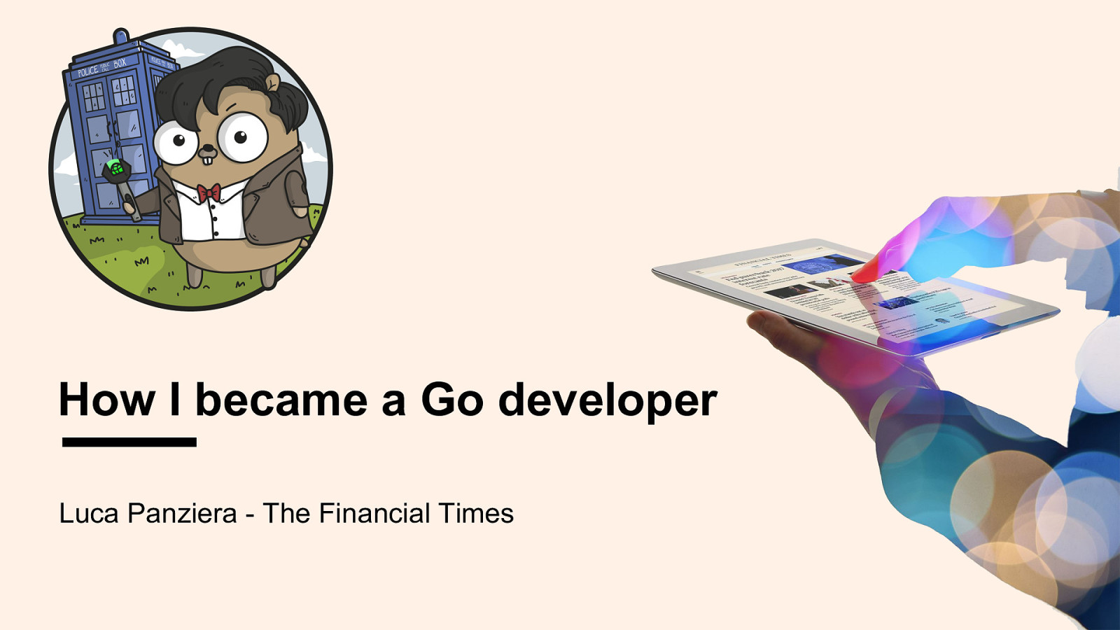 How I became a Go developer