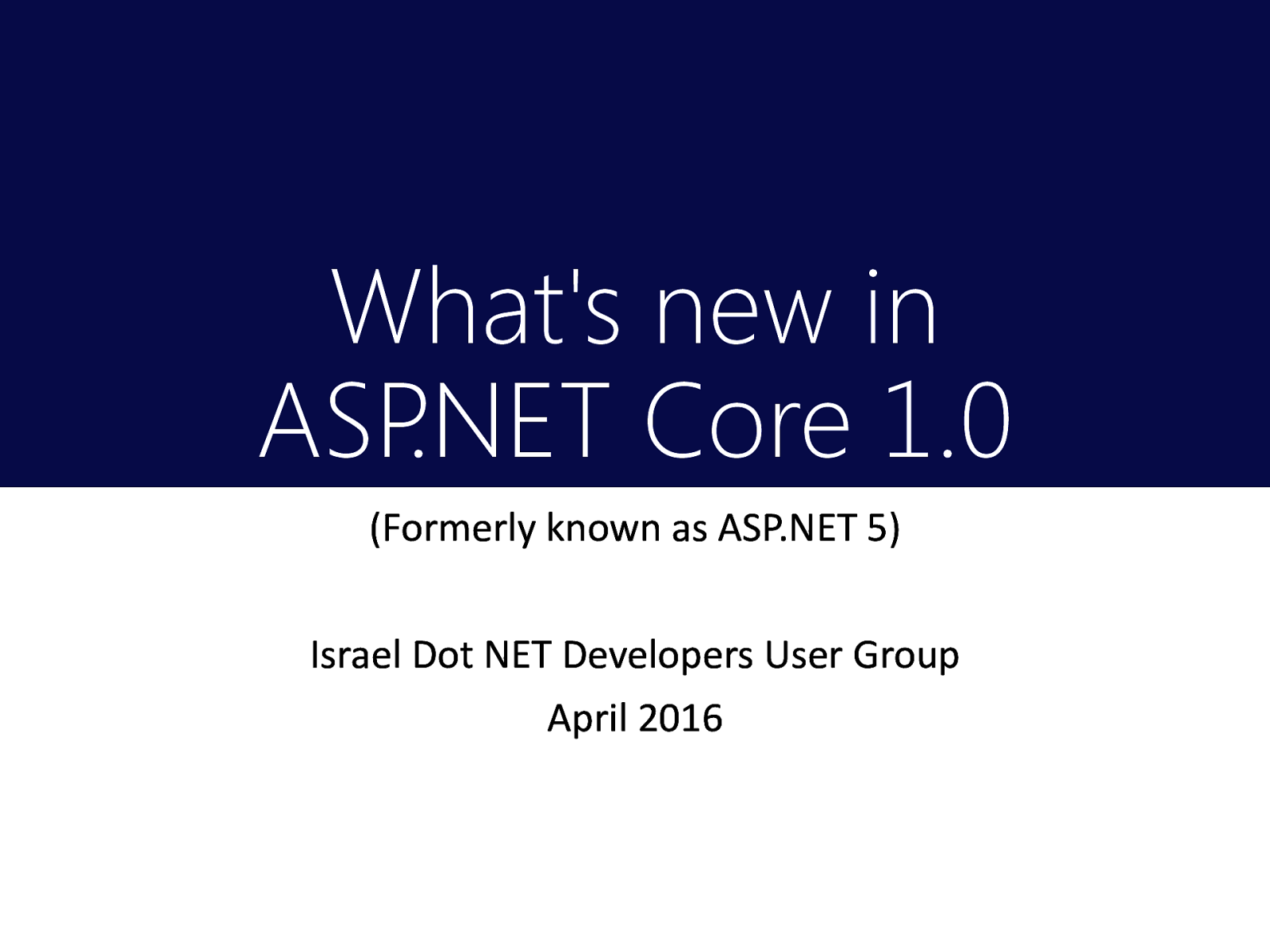 What's new in ASP.NET Core 1.0