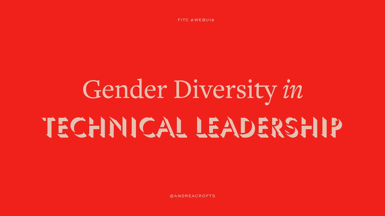 Gender Diversity in Technical Leadership