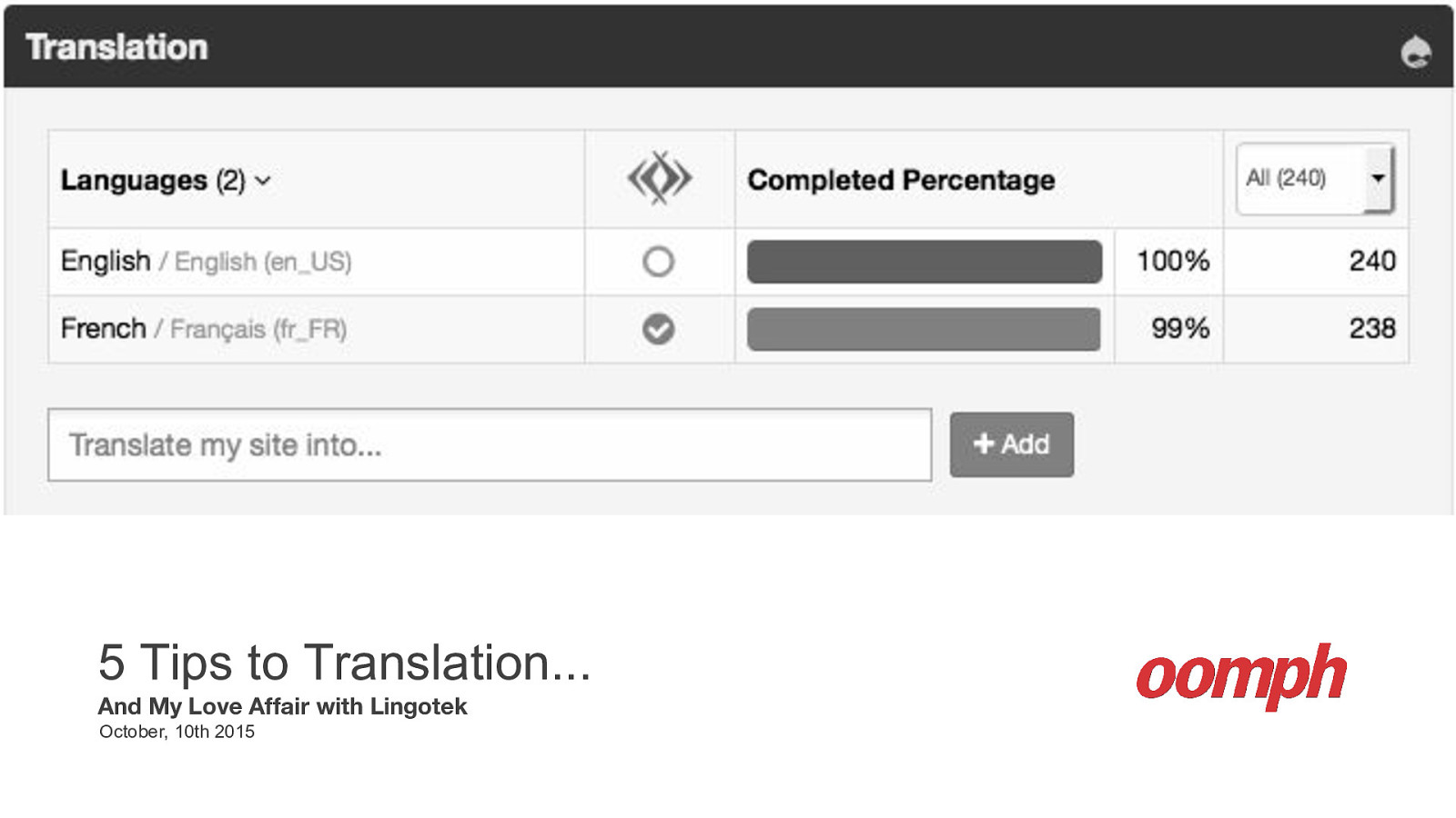 5 Tips to Translation... And My Love Affair with Lingotek