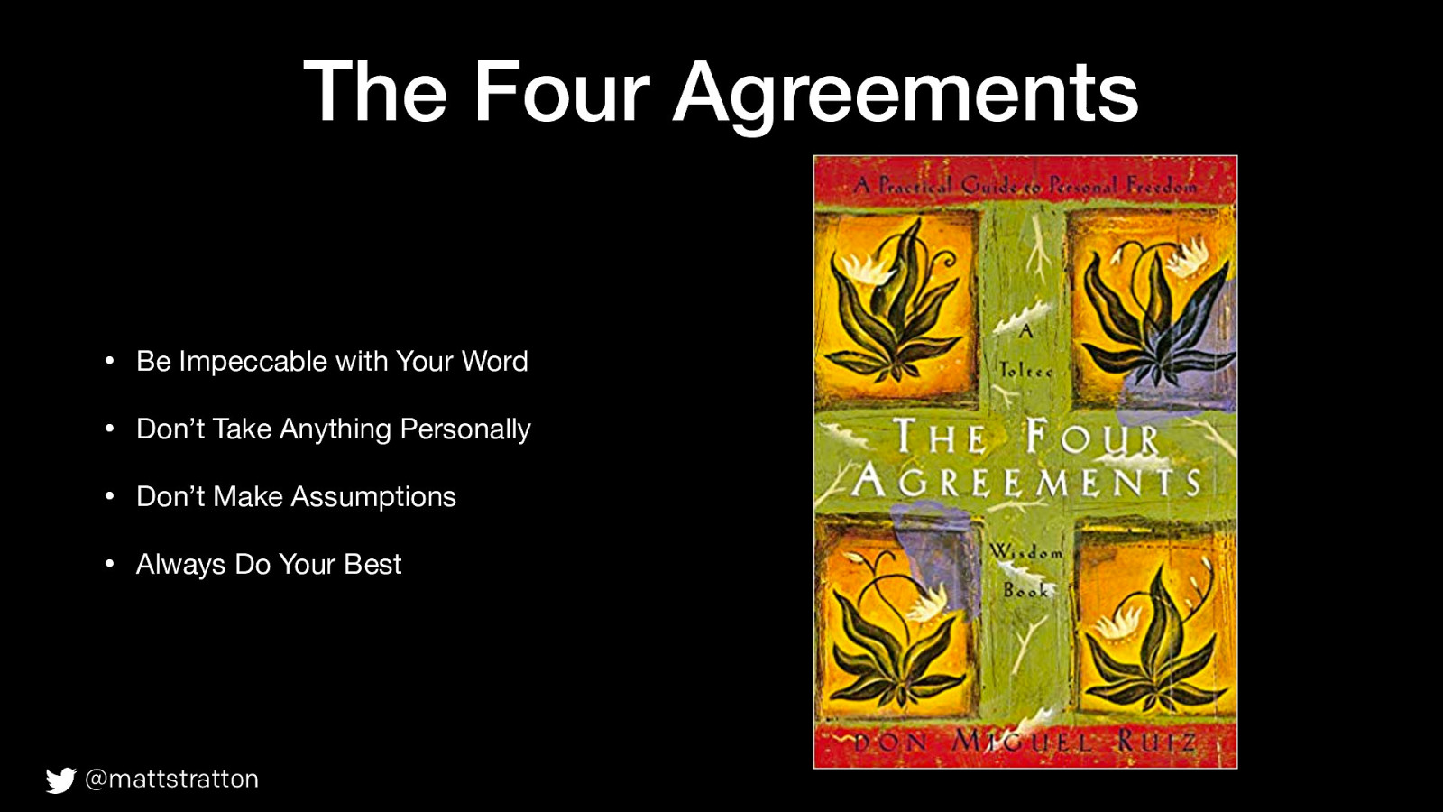 The Four Agreements Of Incident Response