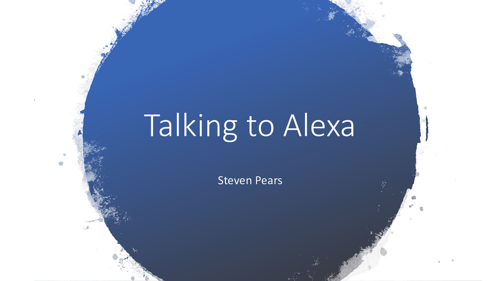 Talking to Alexa