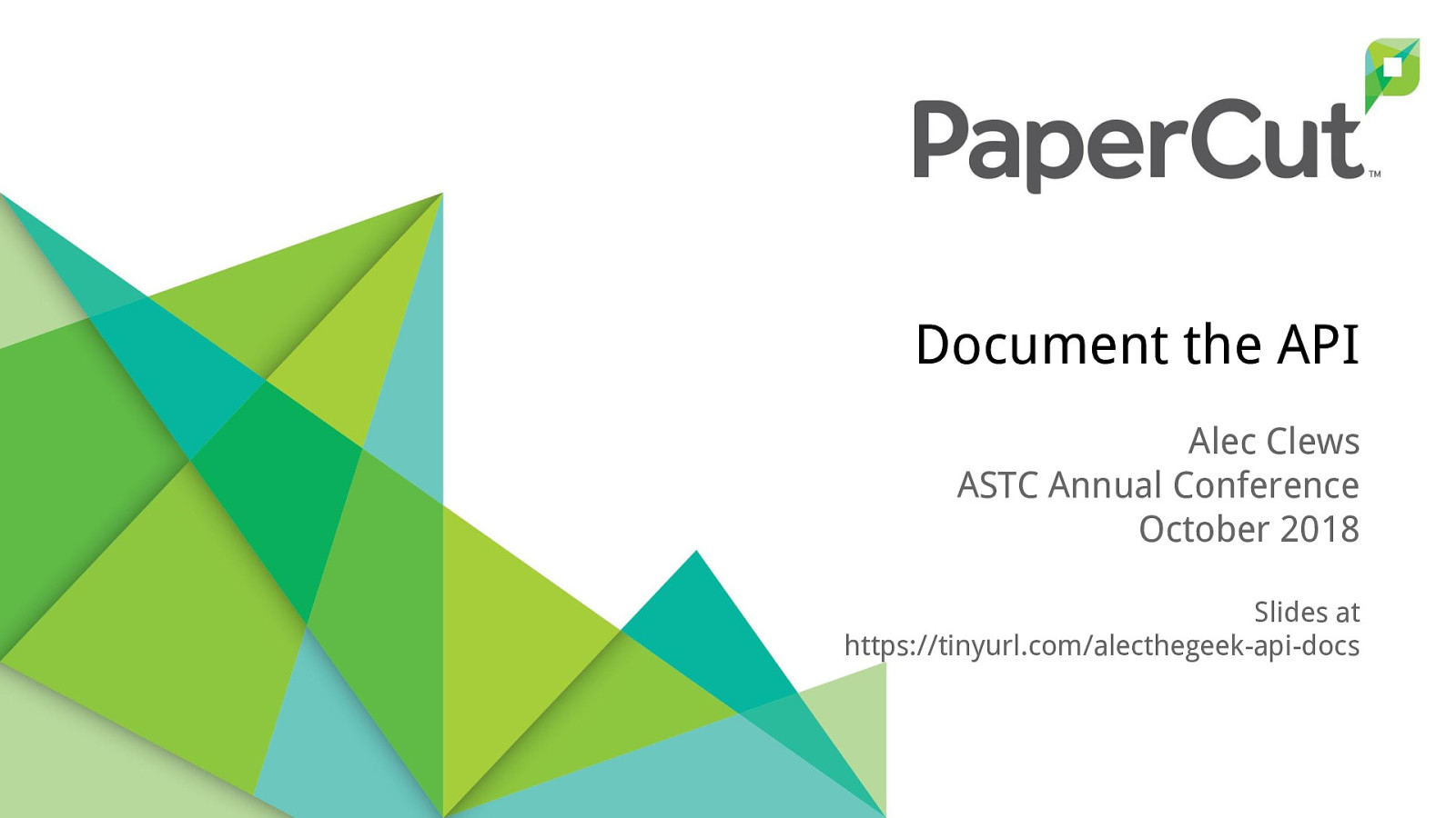 Document the API