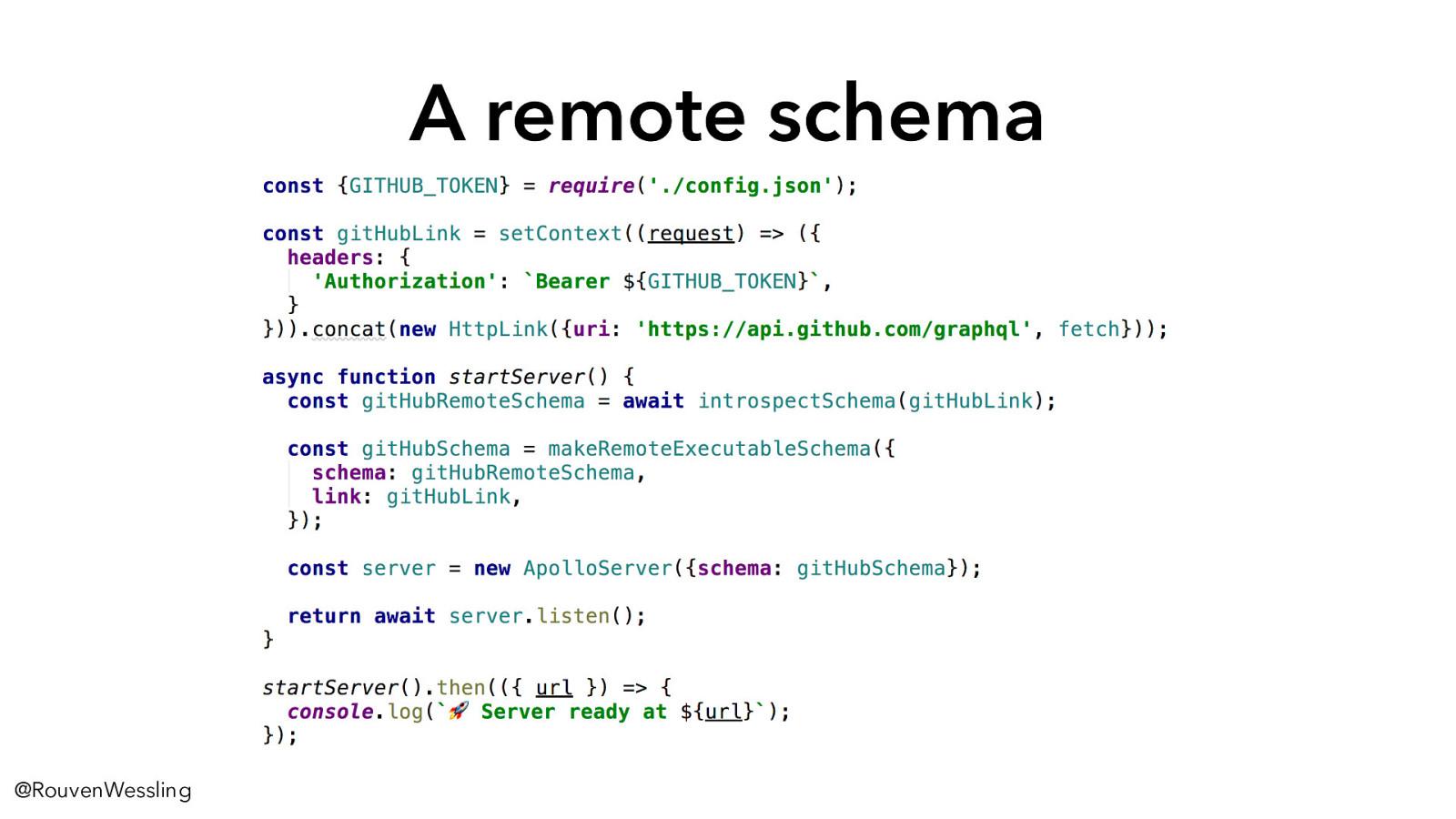 API Mashup: Combining APIs using GraphQL Schema Stitching