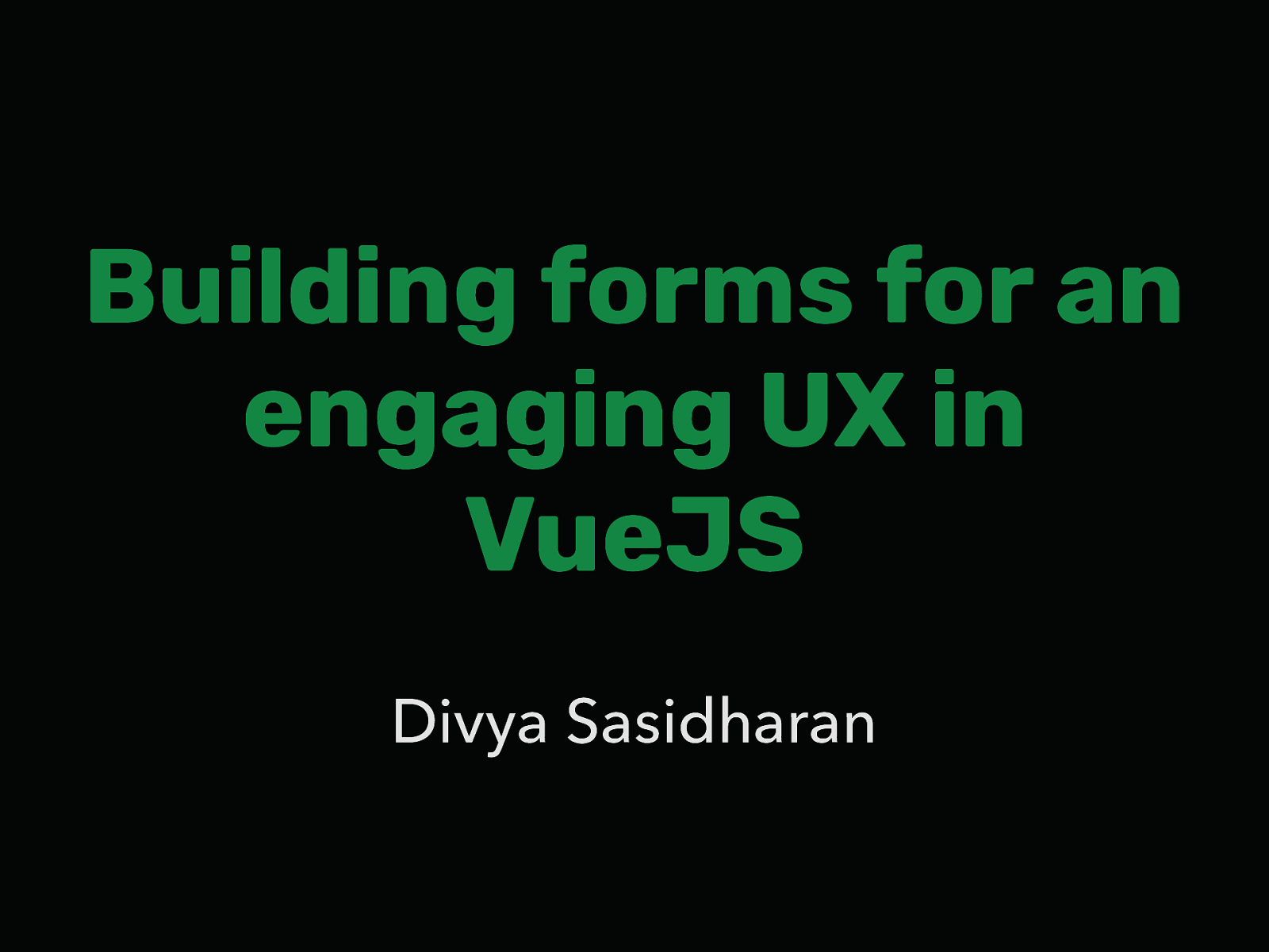 Building forms for an engaging UX in VueJS