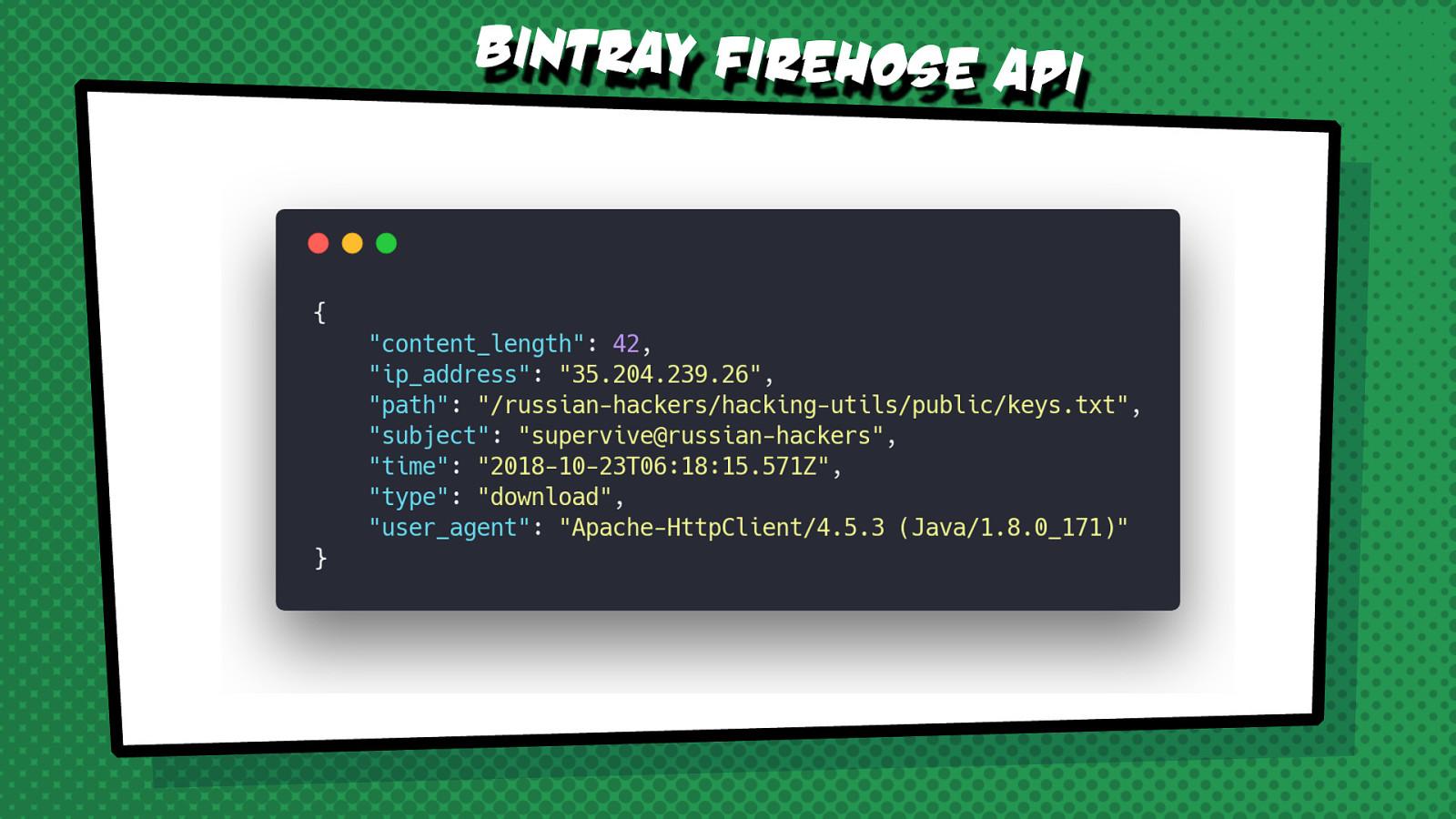 Fight Crime with Kafka Streams and the Bintray Firehose API