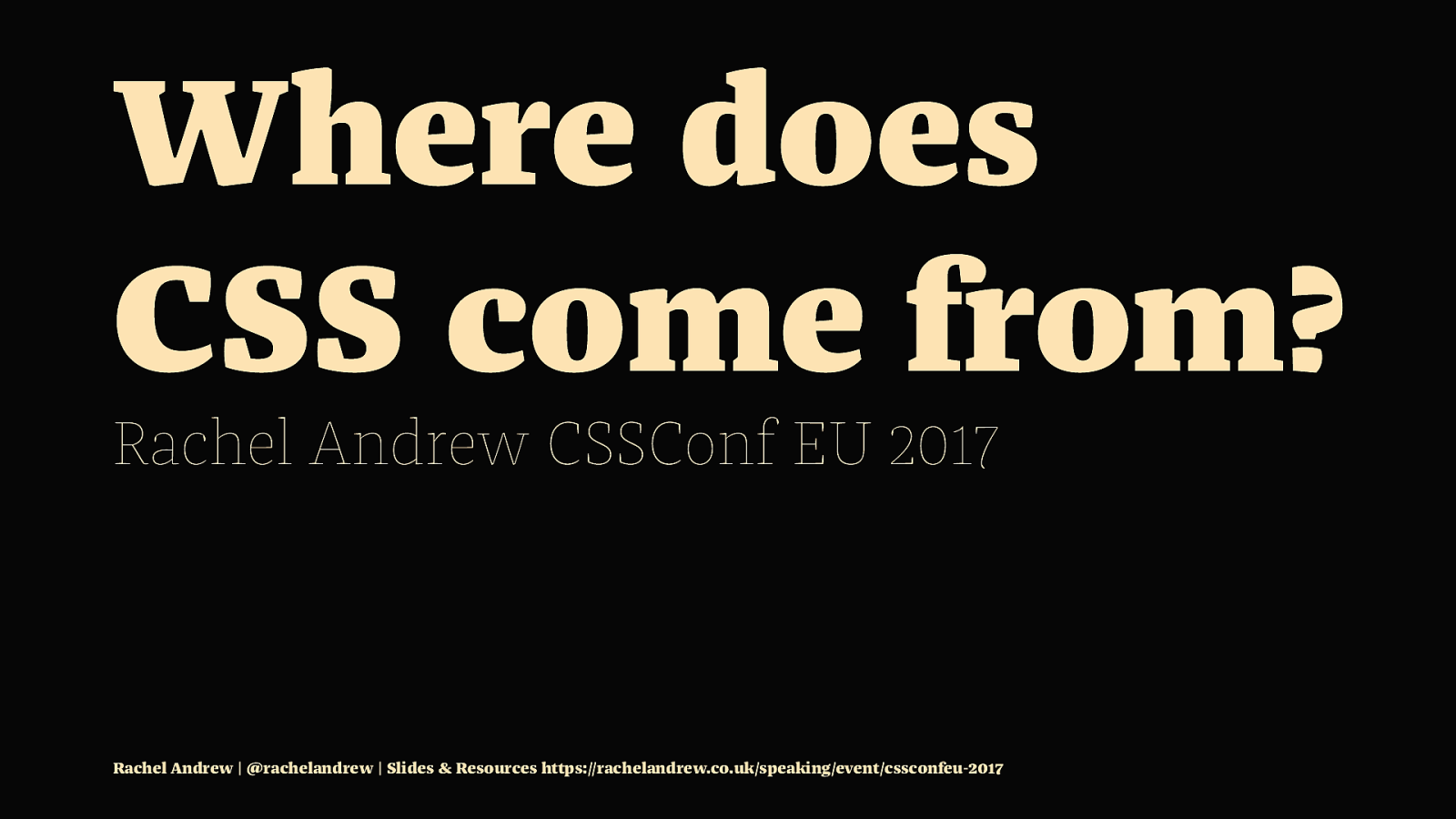 Where Does CSS Come From?