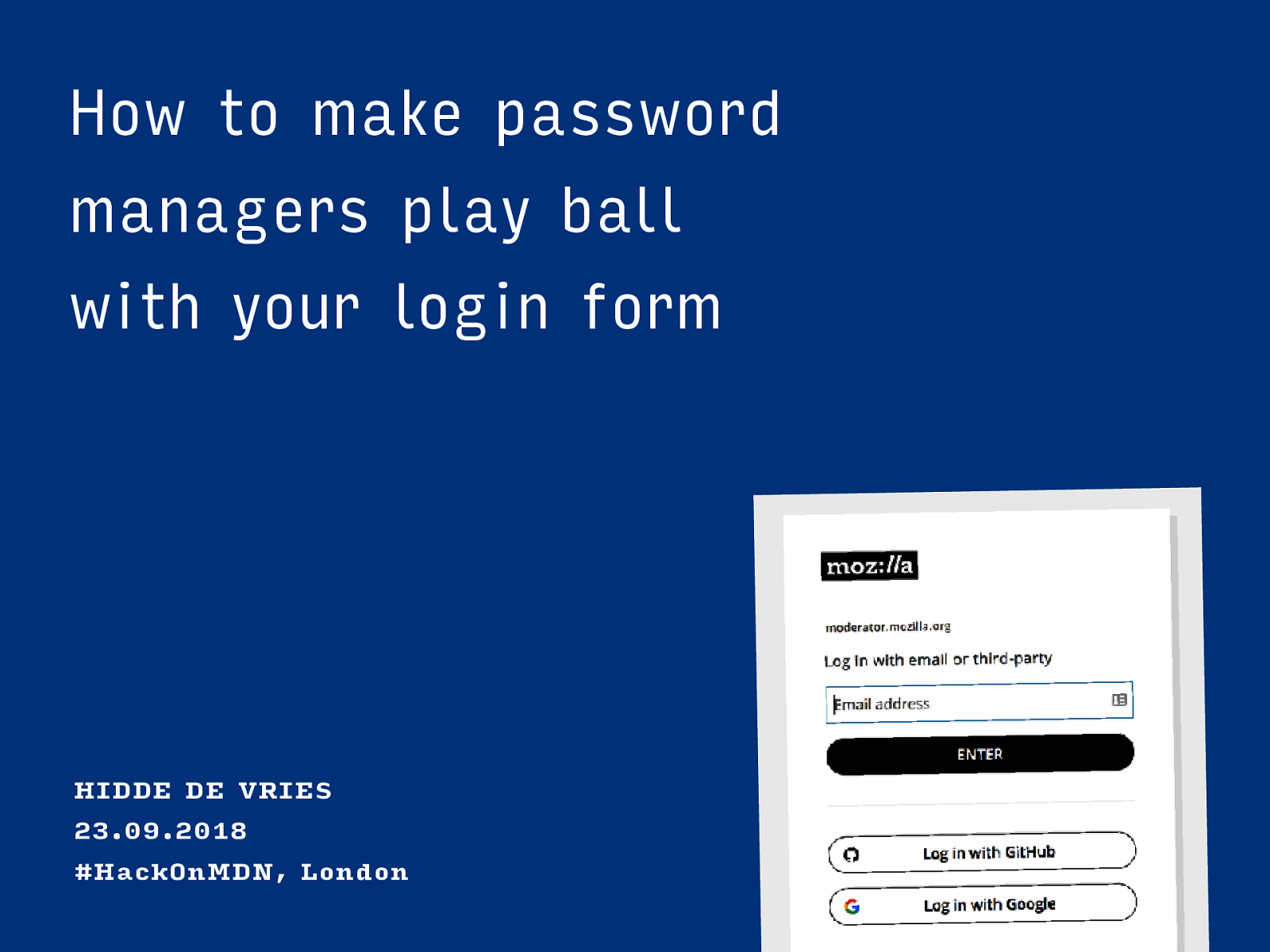 How to make password managers play ball with your login form