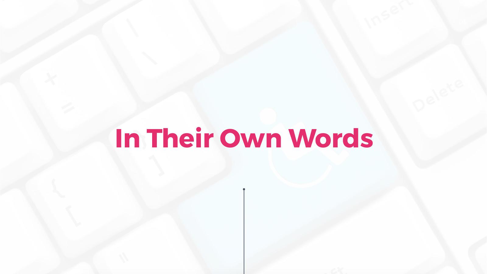 In Their Own Words - Keynote