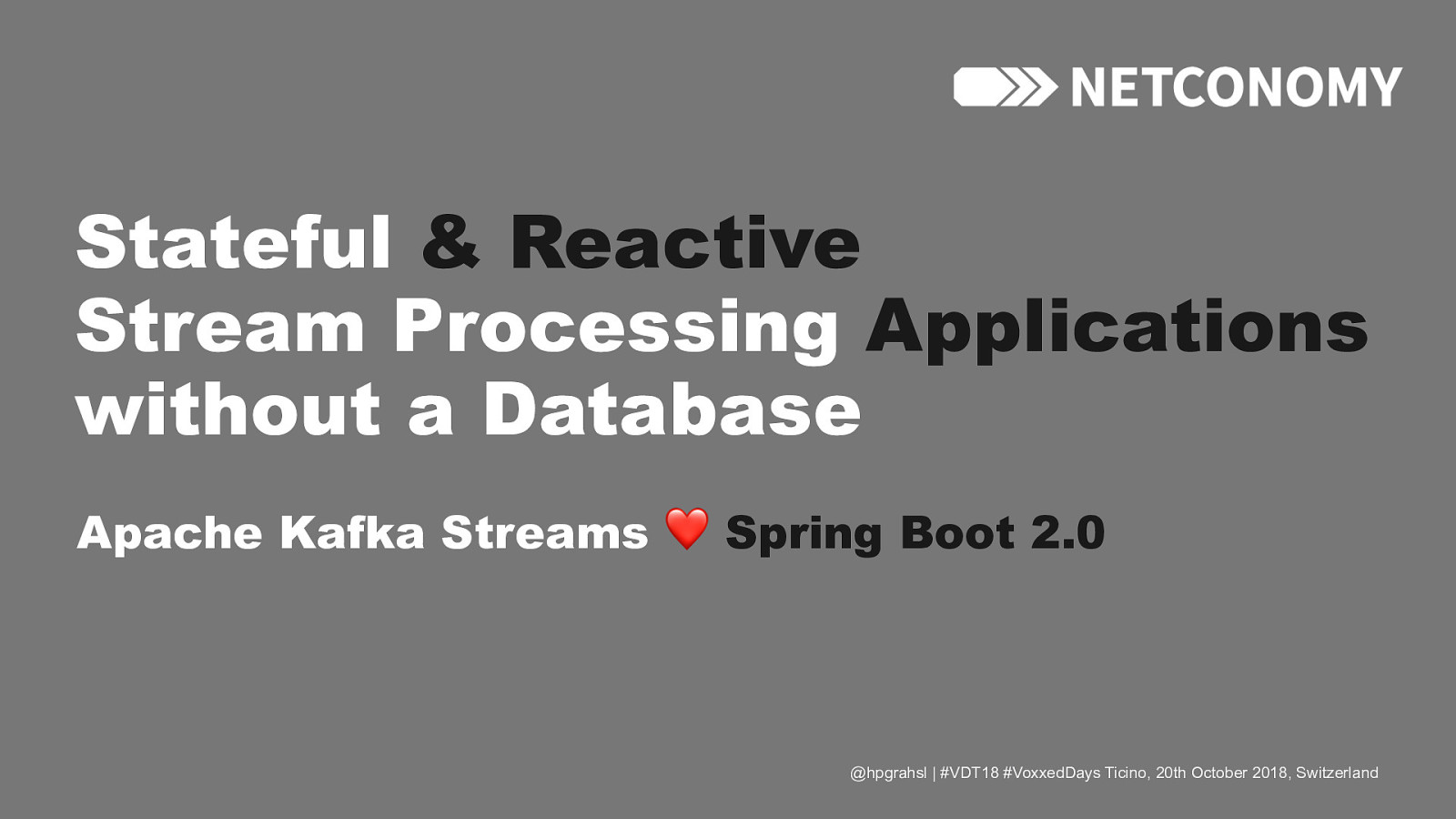 Stateful & Reactive Stream Processing Applications Without a Database