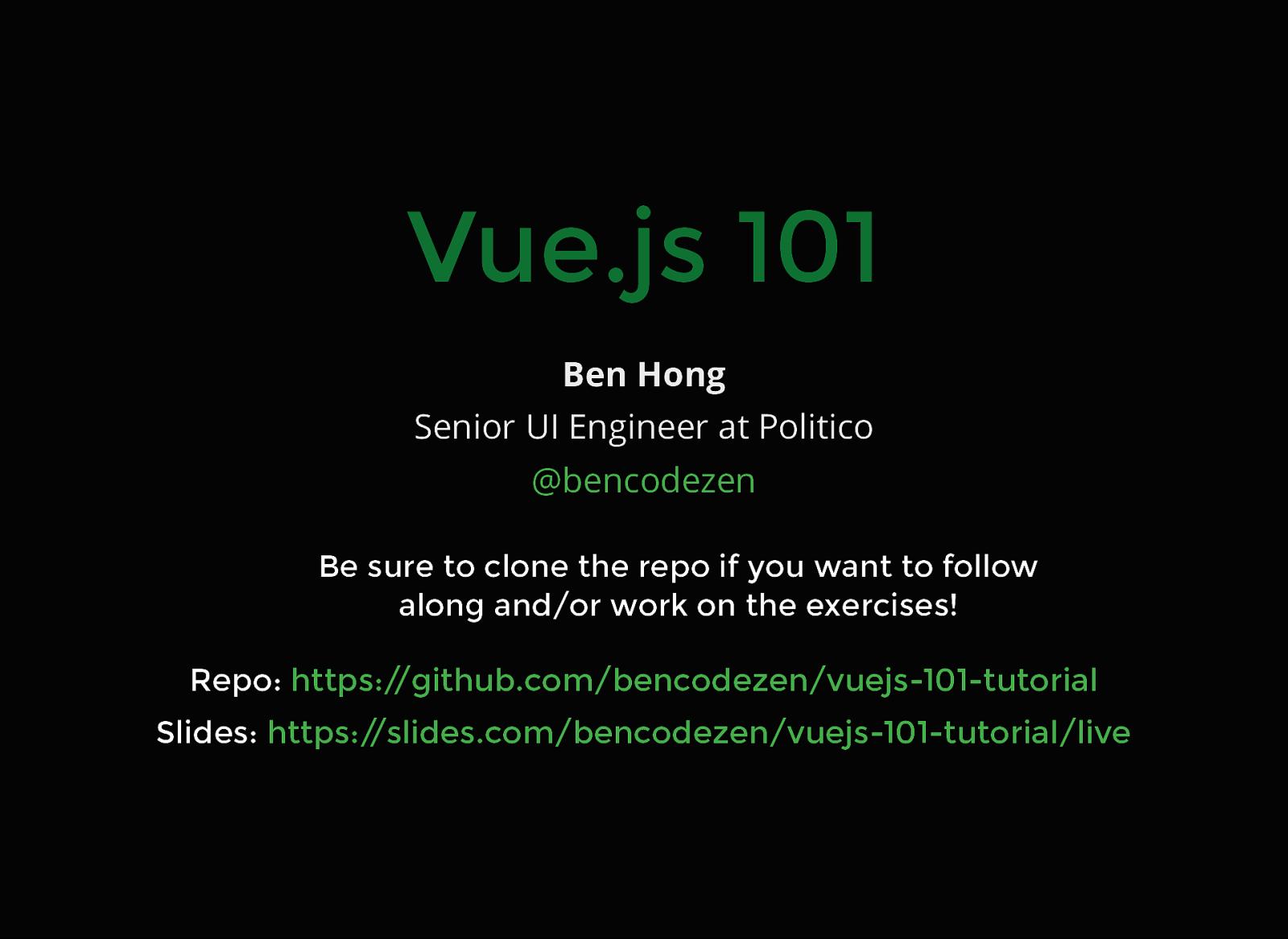 Vue.js 101
