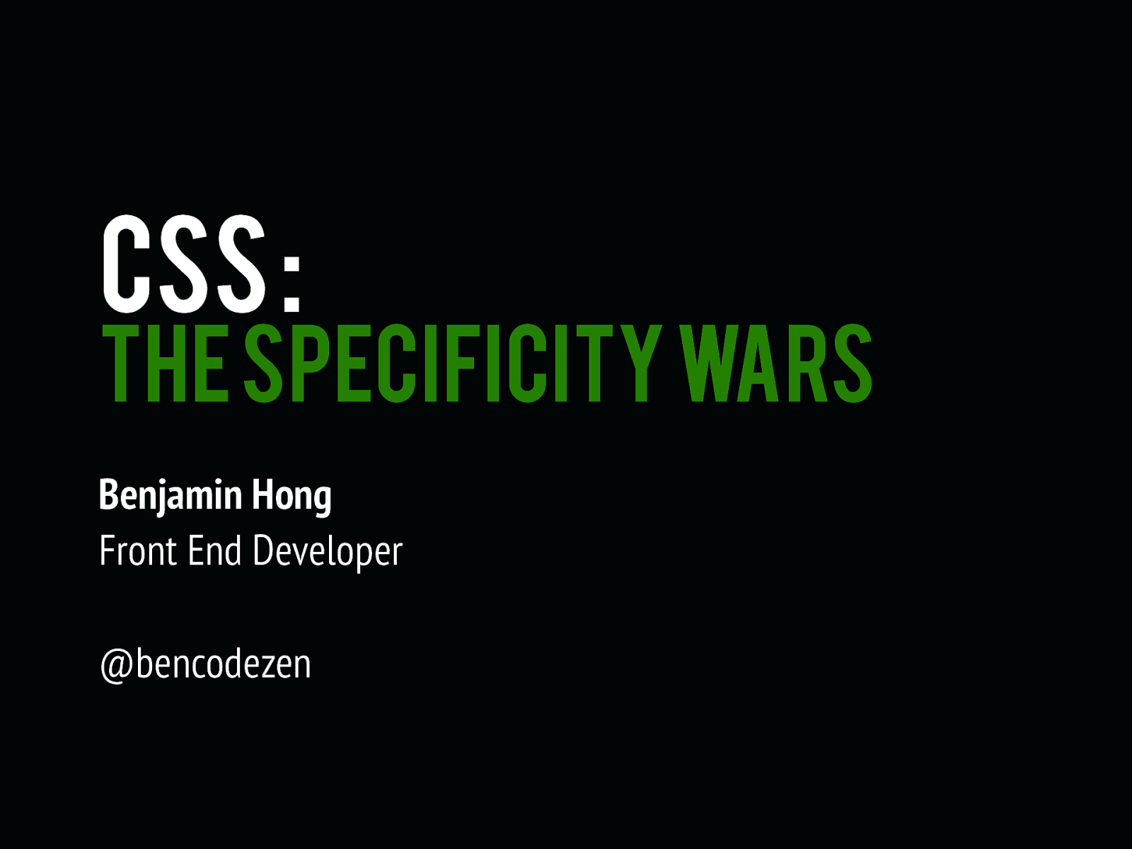 CSS: The Specificity Wars