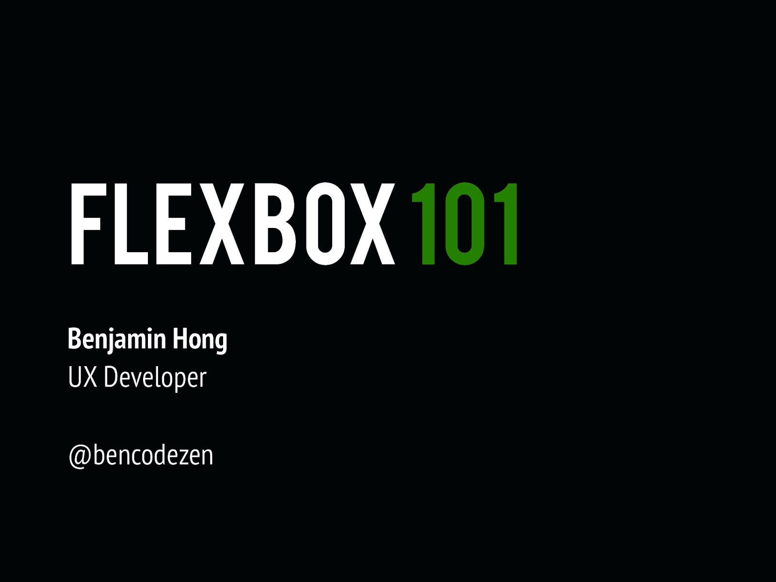 Workshop: Flexbox 101
