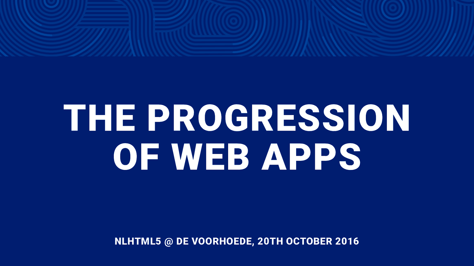 The Progression of Web Apps