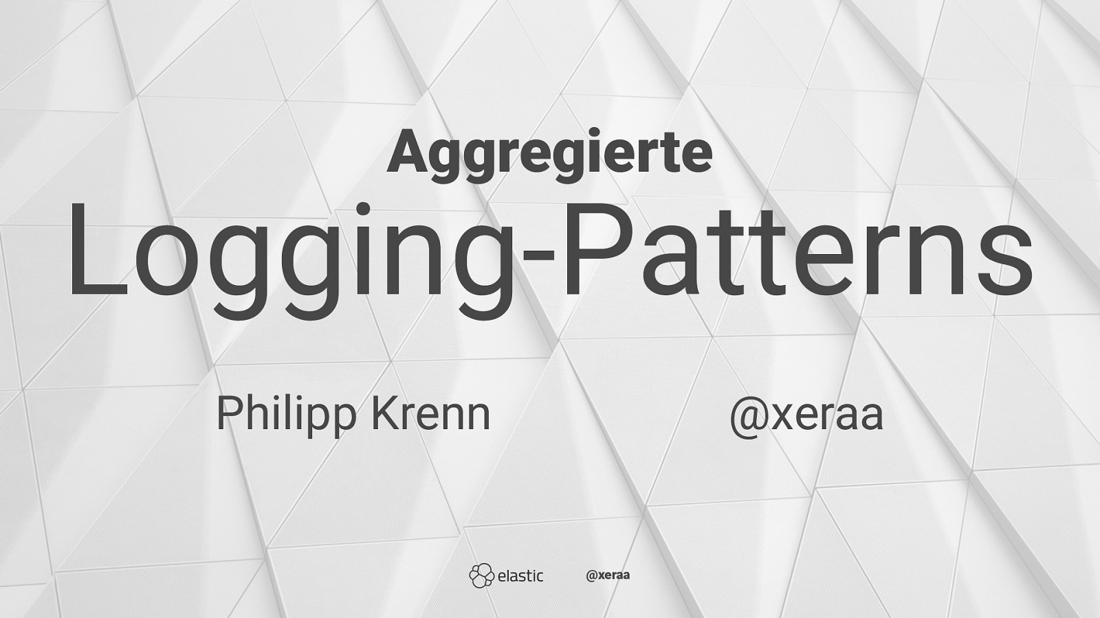 Aggregierte Logging-Patterns