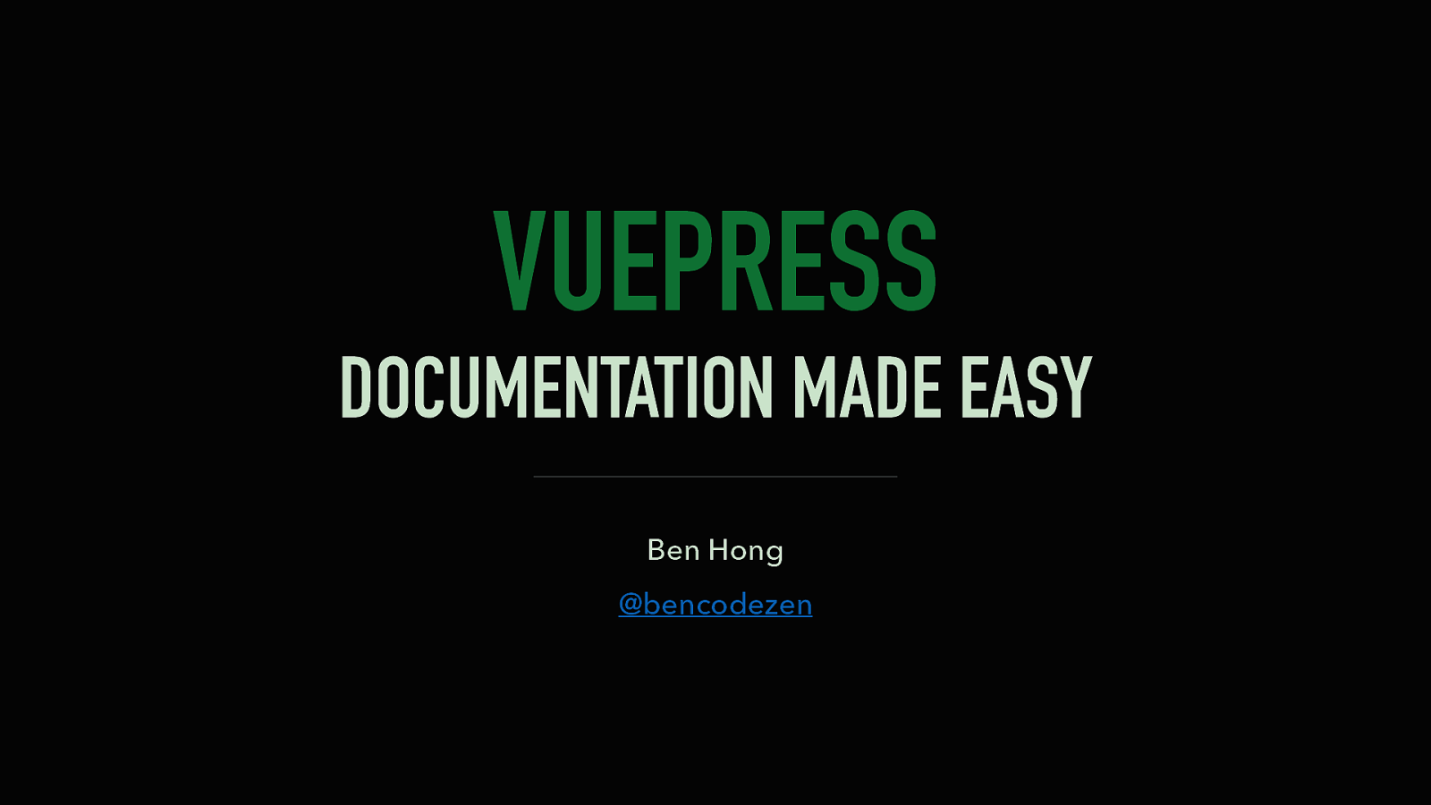 VuePress: Documentation Made Easy