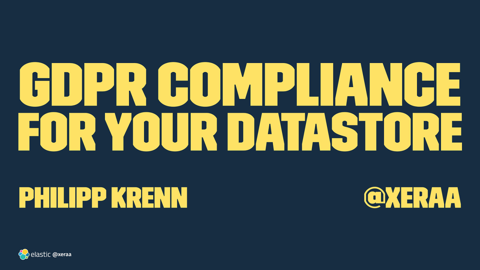 GDPR Compliance for Your Datastore