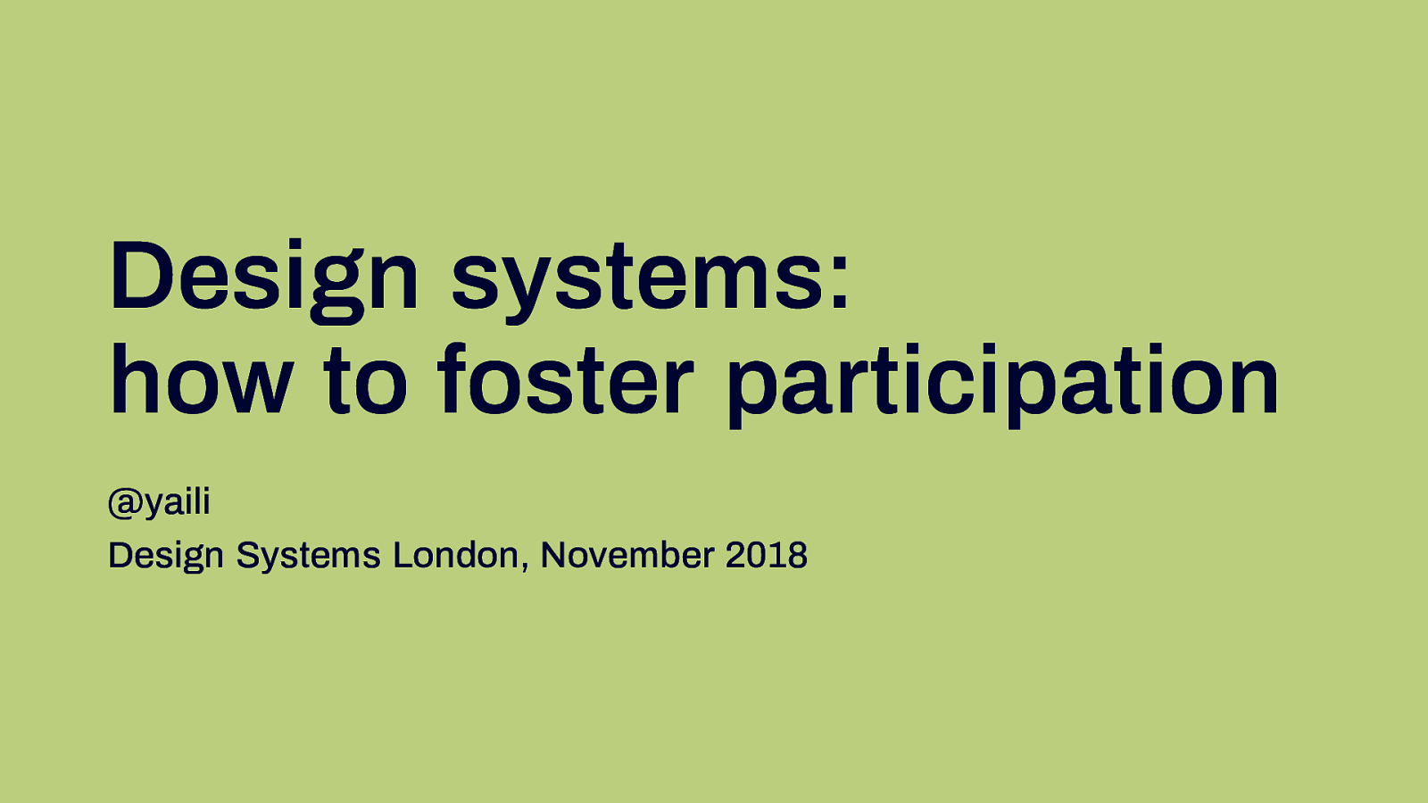 Design systems: how to foster participation