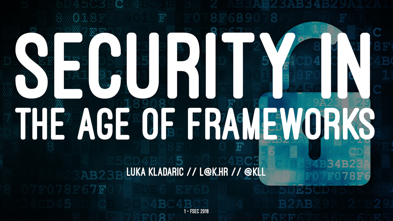 Security in the age of frameworks
