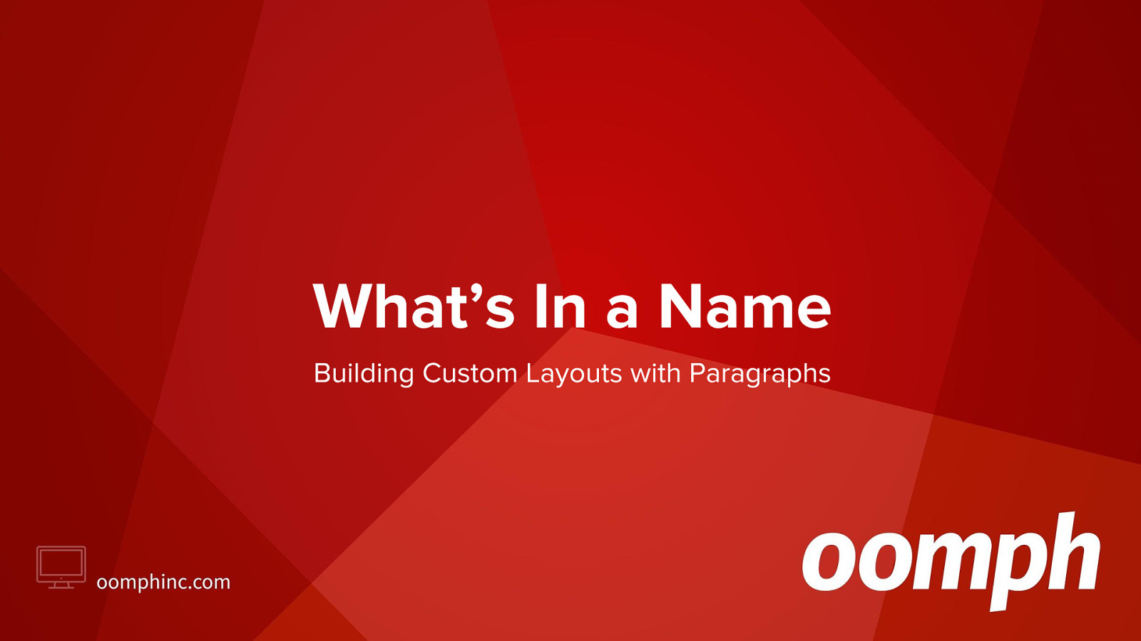 What's In a Name - Building Custom Layouts with Paragraphs