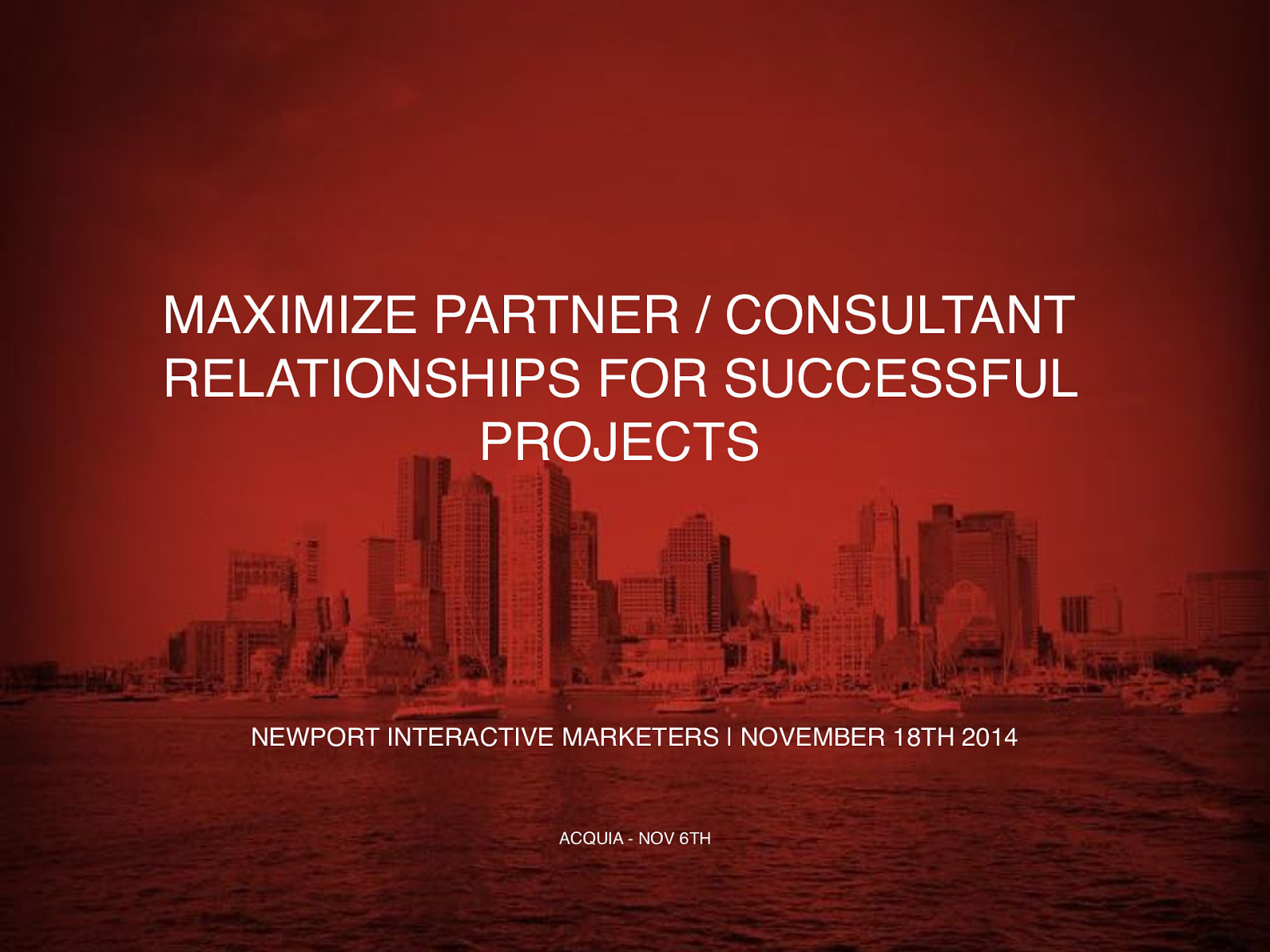 Maximize Partner / Consultant Relationships for Successful Projects