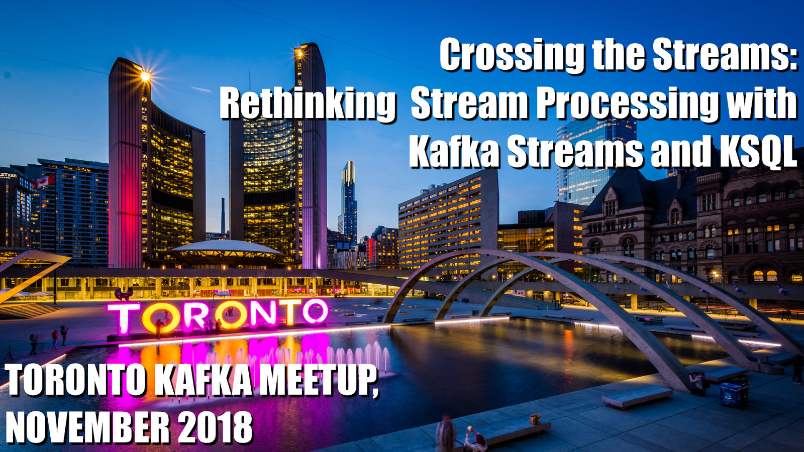 Crossing the Streams: Rethinking Stream Processing with KStreams and KSQL