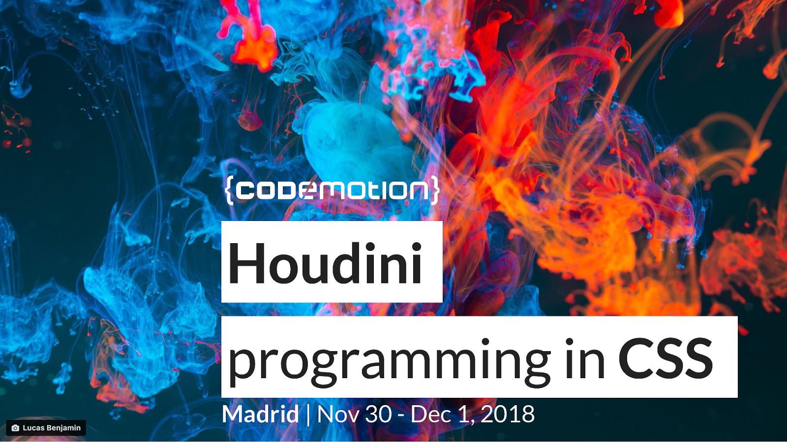 Houdini: programming in CSS