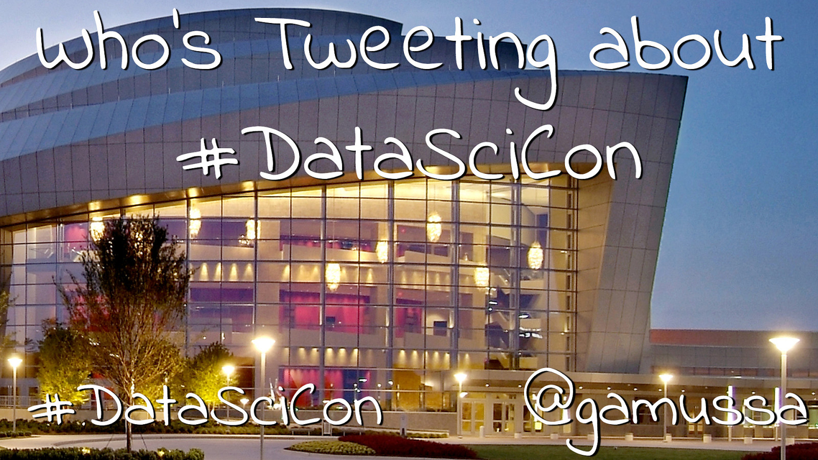 Who's tweeting about #datascicon