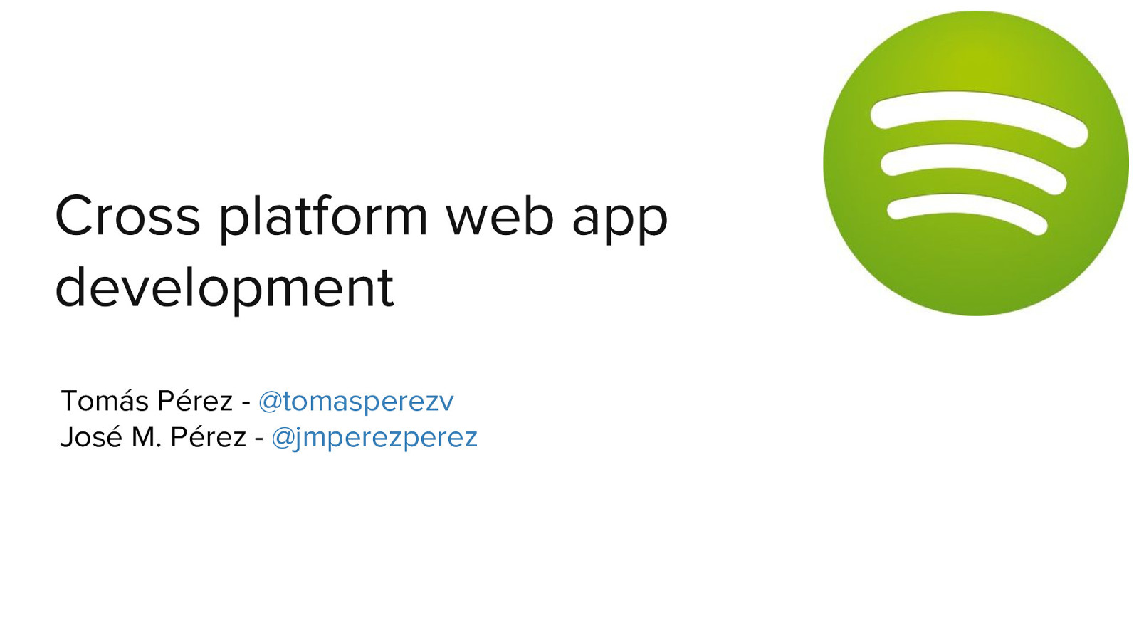 Cross platform web app development
