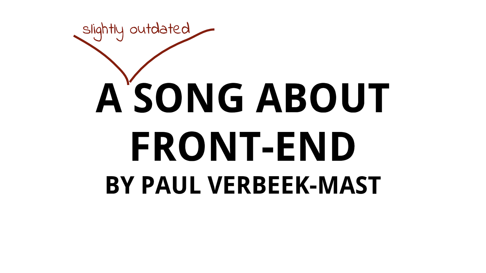 A Song About Front-End
